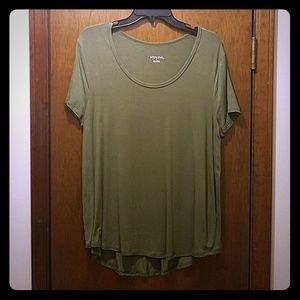 Army Green Flowy Tee